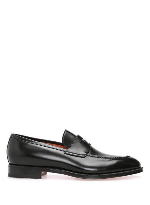 Santoni %100 Deri Loafer Ayakkabı Siyah